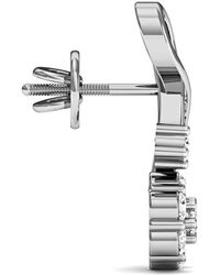 Diamoire Jewels - 18 Diamonds And Hand-carved 18kt White Gold Prong Diamond Earrings - Lyst