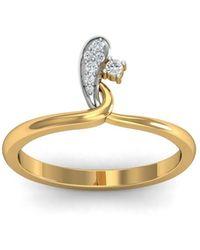 Diamoire Jewels 18kt Yellow Gold Pave 0.07ct Diamond Infinity Ring I - UK G 1/4 - US 3 1/2 - EU 45 3/4 kXYW7cIq5