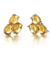 Paolo Costagli New York - Orange Sapphire Ombre Stud Earrings - Lyst