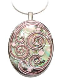 AVA Goldworks - Orchid Abalone Pendant - Lyst