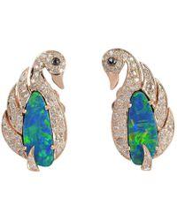 Socheec Opal Diamond Butterfly Studs nZbHew