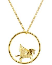 Origami Jewellery Sterling Silver & Gold Plate Swan Circle Origami Necklace IyinWkL