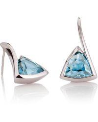 MANJA Jewellery - Amore Blue Topaz Earrings - Lyst