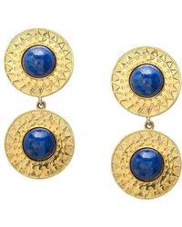 EMELLi Jewellery | Soleil Lapis Earrings | Lyst