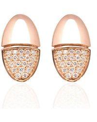 Xavier Civera - Rose Gold Elegant Diamond Earrings - Lyst