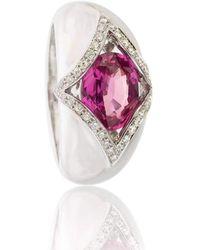 Soligems - Pink Sapphire Signet Ring - Lyst