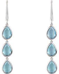LÁTELITA London - Sorrento Triple Drop Earrings Silver Blue Topaz - Lyst
