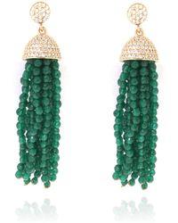 Cosanuova - Jade Tassel Earrings - Lyst
