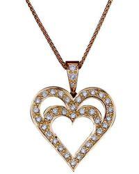 Daou Jewellery - Heart In Heart Diamond Gold Pendant - Lyst