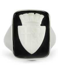 Vintouch Italy - Insignia Cameo Signet Ring - Lyst