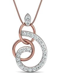 Diamoire Jewels - Hand-carved 14kt Rose Gold Pave Diamond Pendant - Lyst