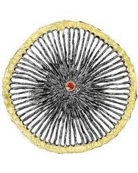 Apostolos Jewellery - Black Star Oxidised Silver Ring - Lyst