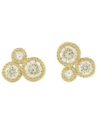Joely Rae Jewelry - Diamond Circle Of Love Studs - Lyst