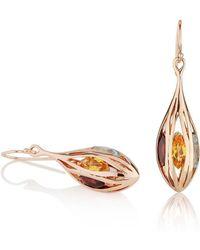 MANJA Jewellery - Riana Rose Gold Earrings - Lyst
