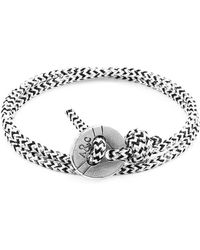 Anchor & Crew - White Noir Lerwick Silver And Rope Bracelet - Lyst