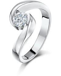 Becky Rowe - Palladium Diamond Engagement Ring - Lyst