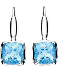 Isaac Westman - White Gold Blue Topaz Earrings - Lyst