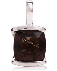 MANJA Jewellery - Infinity Smoky Quartz Pendant - Lyst