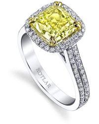 Harry Kotlar Cushion Cut Sapphire Harmonie Ring - UK M - US 6 - EU 52 3/4 QQEw0F744