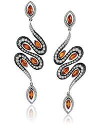Niquesa Fine Jewellery - Amore Serpent Earrings - Lyst