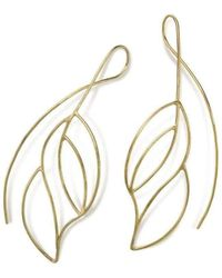 Janice Zethraeus - Gold Plated Frond Earring - Lyst