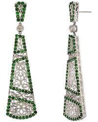 "Dallas Prince Designs - ""trellis Vine"" Earring With Tsavorite Garnet And Diamonds - Lyst"