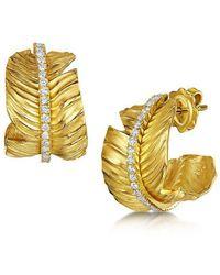 ROX - Diamonds and Thrills - Tiki Diamond Yellow Gold Earrings - Lyst