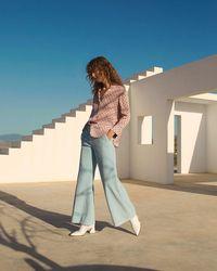 Jigsaw - Ice Blue Corduroy Wide Leg Jeans - Lyst