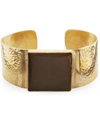 Jigsaw - Made Hammered Horn Square Cuff - Lyst