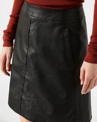 Jigsaw - Mini Leather Skirt - Lyst