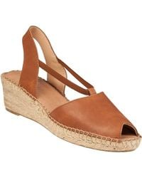 Andre Assous - Dainty Wedge Espadrille Tan Leather - Lyst