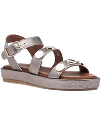 275 Central - 9000 Sandal Pewter Leather - Lyst