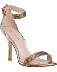 Pelle Moda - Kacey Evening Sandal Gold Leather - Lyst