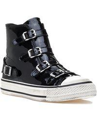de33ca244f0a5 Lyst - Ash Voxan Sneaker Black Leather in Black