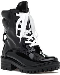 Kendall + Kylie - East Lace Up Boot Black Leather - Lyst