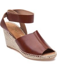 275 Central - Quine Mx Cognag Leather Wedge - Lyst
