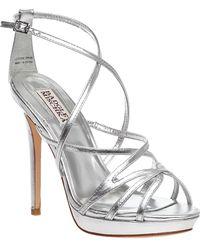 Badgley Mischka - Adonis-2 Evening Sandal Silver Leather - Lyst