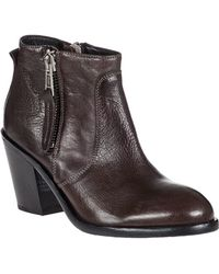 275 Central - Adam Ankle Boot Dark Grey Leather - Lyst