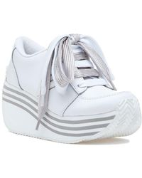 6ee2a9e2a36 Volatile - Elevation Platform Sneaker White Leather - Lyst