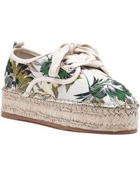 J/Slides - Rally Beige Printed Fabric Lace Up Espadrille - Lyst