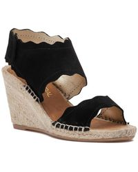 275 Central - Queca-ss Espadrille Wedge Black Suede - Lyst