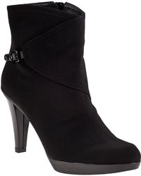 Stuart Weitzman | Goregeous Ankle Boot Black Fabric | Lyst
