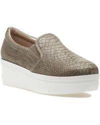 J/Slides - Genna Embossed-leather Sneaker - Lyst