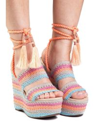 Schutz - Bendy Multi Fabric Wedge - Lyst