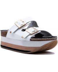 ea759911dd68 Lyst - Tory Burch Casey Flat Sandals in Brown