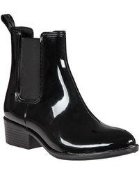 Jeffrey Campbell - Stormy Rain Boot Black Rubber - Lyst