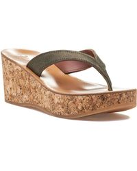 K. Jacques - Diorite Bronze Wash Leather Sandal - Lyst