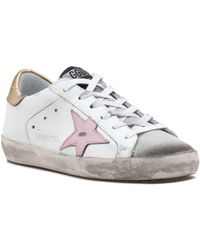 d336d713168 Golden Goose Deluxe Brand - Superstar Lace Up Sneaker White gold pink - Lyst