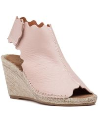 275 Central - Quonda-n Espadrille Wedge Nude Leather - Lyst