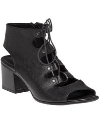 275 Central - 1072 Lace Up Black Leather Sandal - Lyst